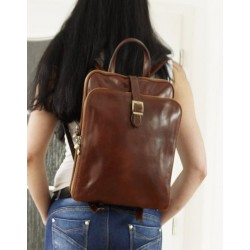 Leather backpack brown leather bag leather travel bag Babbet