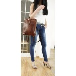 The Leather backpack brown leather bag leather travel bag Babbet image