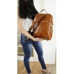 The Leather backpack school bag tan leather travel bag Davina image