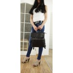 The Leather backpack black leather school bag Ilana image