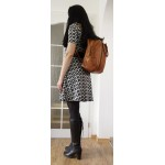 The Convertible tan leather handbag to backpack or crossbody bag Jarah image