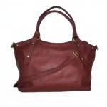 The Leather tote bag crossbody handbag Elsa cherry red image