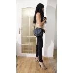 The Leather saddle bag messenger crossbody purse Goldmann S blue image