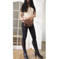 Leather shoulder bag Goldmann S messenger crossbody purse in distressed brown