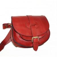 Leather crossbody purse Goldmann S in red shoulder bag messenger