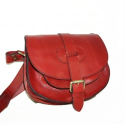 Leather crossbody purse Goldmann S in red shoulder bag messenger