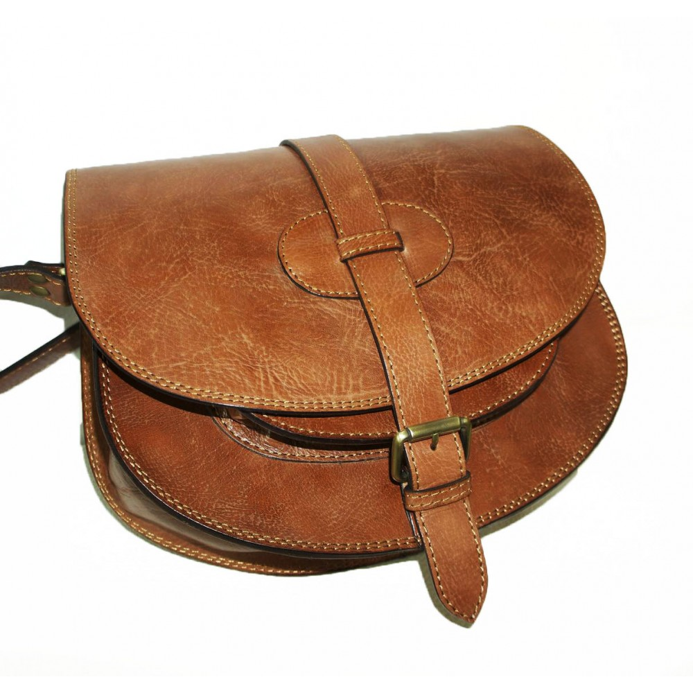 The Leather Crossbody Bag Messenger Saddle Purse Goldmann L In Tan