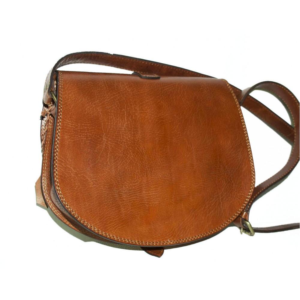 The Leather Crossbody Bag Messenger Saddle Purse Goldmann L In Tan