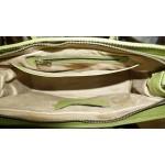 The Leather satchel bag Ilita pistachio green leather crossbody purse image