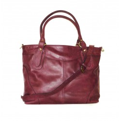 Leather Tote Bag Nora Bis L crossbody bag in burgundy