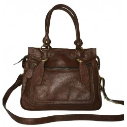 Leather handbag Rina L the crossbody bag