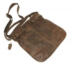 Leather hobo bag Vidal in antic brown crossbody bag