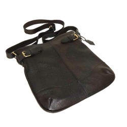 Leather hobo bag Vidal in black leather shoulder crossbody bag