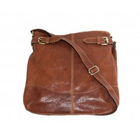 Leather hobo bag Vidal in distressed brown leather shoulder crossbody bag