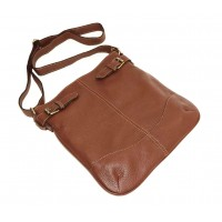 Leather hobo bag Vidal in soft brown leather shoulder crossbody bag