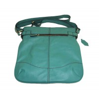 Leather hobo bag Vidal in teal green leather shoulder crossbody bag